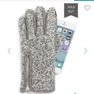 Echo Wool Blend  Zip Boucl? Touchscreen Gloves